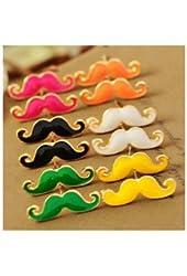 Liroyal Moustache Earrings Rose