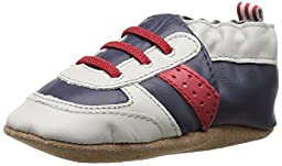 Robeez Super Sporty Soft Sole Crib Shoe (Infant), Navy/Red, 6-12 Months M US