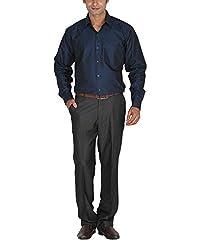 LAGNESH Men's Long Sleeve Shirt (Blue, 40)