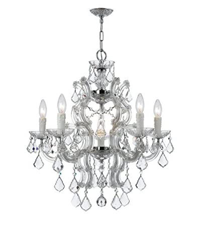 Gold Coast Lighting Maria Theresa 6-Light Crystal Chrome Chandelier, Polished Chrome