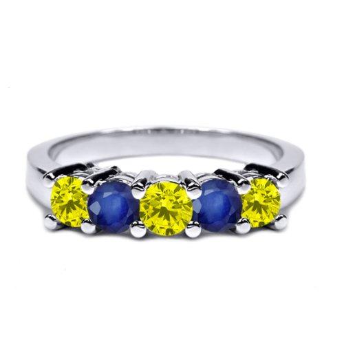 Canary Diamond Wedding Rings