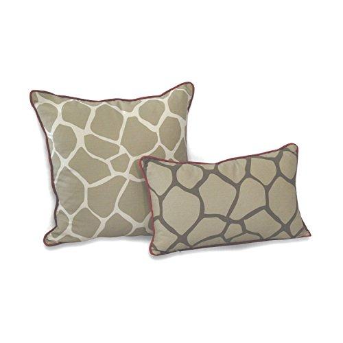 Reversible Animal Pillow : EZ Living Home Giraffe Reversible Decorative Pillow, 20 by 20-Inch, Khaki Garden Household ...