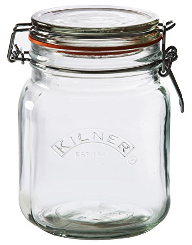 Kilner Square Clip Top Jar, 34-Fl Oz
