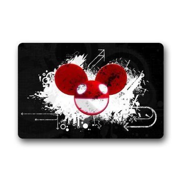 SENL Doormats Deadmau5 Mouse Head Pattern Custom Outdoor / Indoor Doormat Personalized Design Machine-Washable Non-slip Back Doormat 23.6x15.7 Inch (Deadmau5 Mouse Head compare prices)