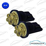 2x T10 4 LED XENON BLUE 194 501 921 W5W WEDGE SIDELIGHTS BULBS WILL FIT HYUNDAI TUCSON (2004-2009)