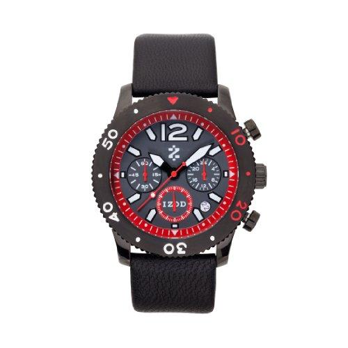 IZOD Men's IZS6/2 BLK/RED Sport Quartz Chronograph Watch