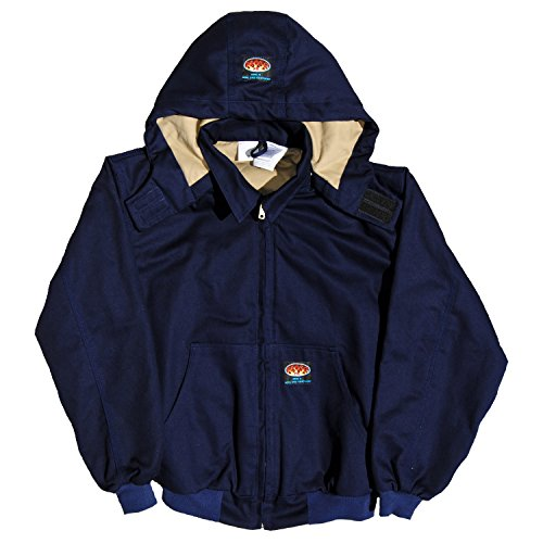 Rasco Fr Navy Quilted Hooded Jacket Njfq2210 Flame Resistant Jacket