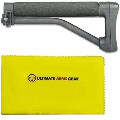 "ACE ARFX ARR-961 ARR 961 A1 A2 .223 5.56 Skeleton Light Weight Stock Buttstock Fixed 10.5"" Long Ace with Foam Rest and Rubber Butt Pad Buttpad Carbine Rifle + Ultimate Arms Gear Care Cleaning Cloth by Ultimate Arms Gear"