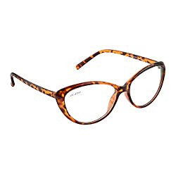 Cocaine 2306-2_0915 Tortise Brown Transprant Clear Cat-eye Eyeglasses