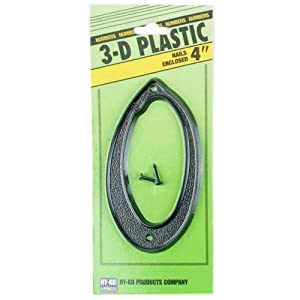 4quot inch plastic address number 0 house numbers for Plastic house letters