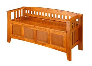 Linon Storage Bench Short Split Seat Storage