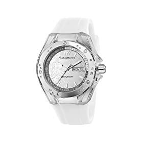 TechnoMarine Unisex 110065 Cruise Sport Snow 3 Hands Mirror Dial Watch