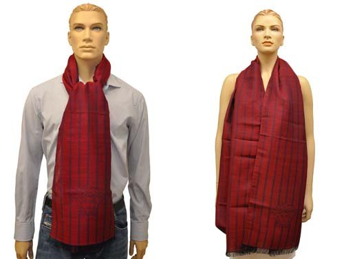 Versace antisguardi Sciarpa Scialle Sciarpa chal Bufanda Versace Medusa-testa con, 70 x 195 x 2,5 cm rosso taglia unica