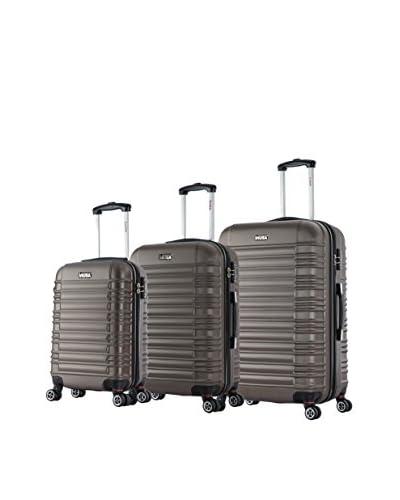 InUSA New York 3-Piece Hardside Luggage Set, Brown