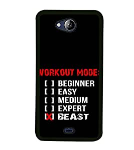 Gym Quotes 2D Hard Polycarbonate Designer Back Case Cover for Micromax Canvas Play Q355
