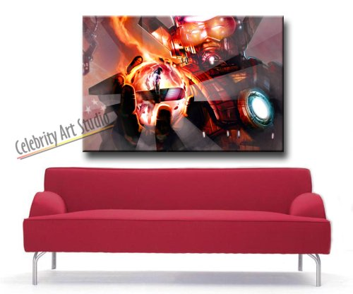 GALACTUS AND SILVER GALLERY WRAP STYLE ARTWORK 30X20X1.5″
