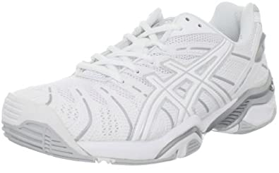 ASICS Women's Gel Resolution 4 Tennis Shoe,White/Silver,6 M US