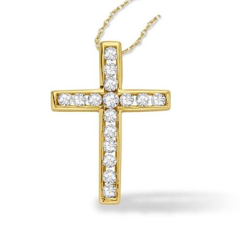 1 2ct tw cross pendant