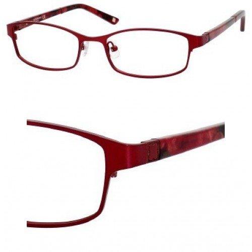 Liz Claiborne 384 Eyeglasses (0FC9) Red Rose,