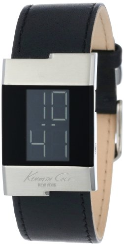 Kenneth Cole New York Women's KC2315-NY Digital Black Leather Watch