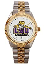 Louisiana State University LSU Tigers Mens Executive Stainless Steel Watch