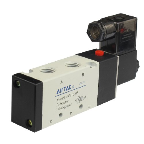 uxcell 4V310-08 DC 12V Five Ports Two Position Pneumatic Solenoid Valve (12 Valve Exaust compare prices)