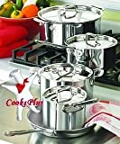 "All-Clad ""Exclusive Enhanced"" 9 Piece All Stainless Steel Set"