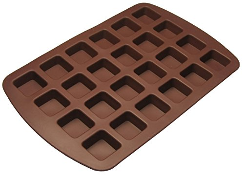 Better Value 24-Cavity Silicone Brownie Squares Baking Mold front-293113
