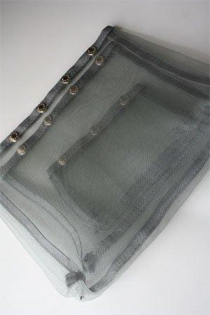 Namaste Oh Snap Set of 3 Gray Mesh Craft Sewing Knitting Bags by Namaste