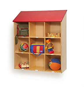 Whitney Brothers Birch Laminate Red Roof Wall Storage by Whitney Brothers