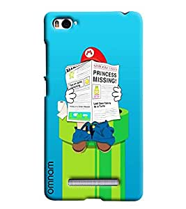 Omnam Mario Reading Newspaper On Water Tank Printed Designer Back Cover Case For Xiaomi Mi4i