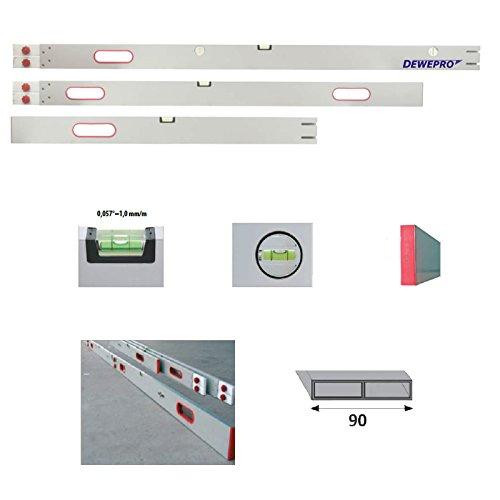 DEWEPRO-Alu-Richtlatte-Setzlatte-Abziehlatte-steckbar-bis-400-4m-3-Teile-mit-5-Libellen-4-Handgriffe