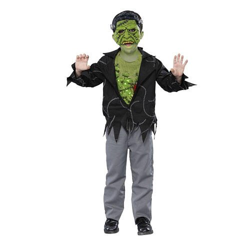 Light Up Frankie Child Halloween Costume Medium 7-8