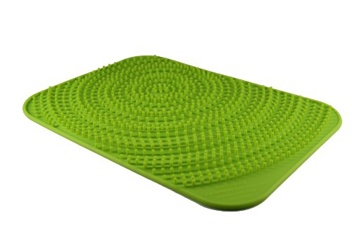Make My Day Voluminous Silicone Glassware Drying Mat, Lime