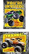 Monster Jam Birthday Invitations, 8 c…