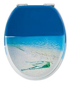 Sitzplatz 40107 4 Abattant de WC avec système de fermeture en douceur Motif bouteille à la mer