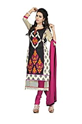 Mandani Fashion women's Chandei Party Wear Unstitched dress material(SF06_multi color)