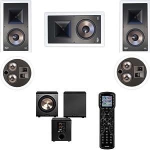 Klipsch KL-7800-THX 5.1 #2 In-Wall System-Universal Remote MX450 URC-FREE PL-200