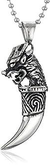 Men's Stainless Steel Dragon Head Hor…
