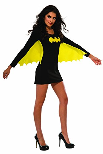 Women's Batgirl Costume Dress with Wings - Size Large