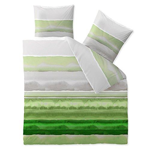 3-tlg-Bettwsche-verschiedene-Gren-4-Jahreszeiten-Baumwolle-Renforc-OEKO-TEX-3-teilig-200-x-220-cm-CelinaTex-5000431-Fashion-Dorie-Grn-Grau