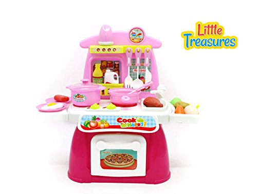 Cook Happy A Complete Toddler Size Toy Kitchen Set For