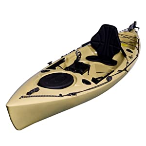 Riot Kayaks Escape 12 Angler Sit-On-Top Flatwater Fishing Kayak (Sand, 12-Feet)