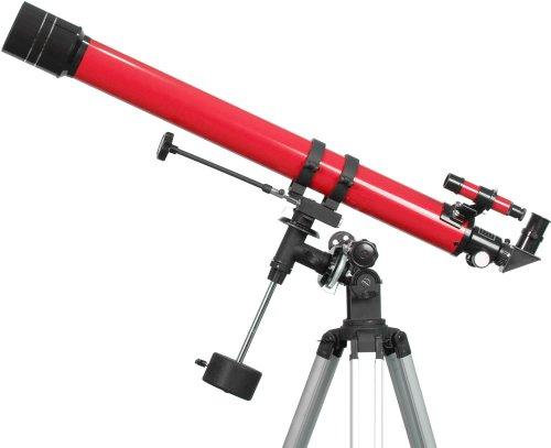 Ioptron 6001 900X70 Refractor Telescope (Red)