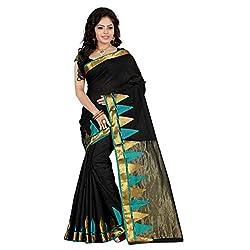Bahucharaji Creation New Black Colure Cotton Woman Silk Saree