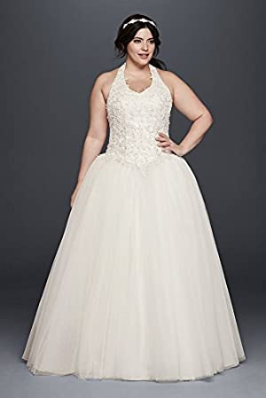 Tulle Basque Waist Plus Size Ball Gown Wedding Dress Wedding Dress Style...