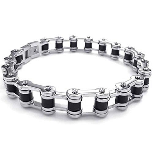 anazoz-black-silver-mens-stainless-steel-bracelet-biker-link