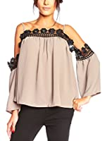 JUST SUCCES Blusa Zaya (Taupe)