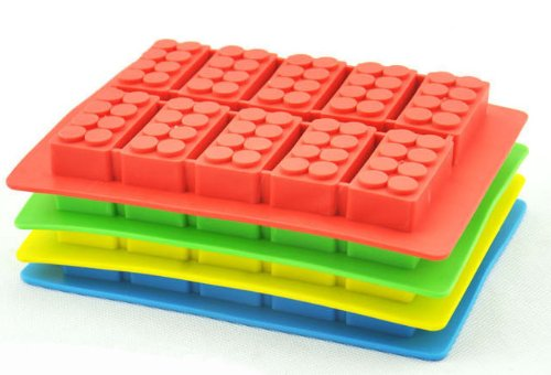 Dgi Mart Practical Kitchen Use Accessories 10-Cavity Cute Building Block Toy Bricks Shaped Ice Chocolate Sugar Cake Silicone Mini Cube Tray(Colour By Random) front-584992