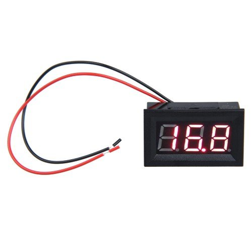 Top Brand 0.56Inch Lcd Dc 3.2-30V Red Led Panel Meter Digital Voltmeter With Two-Wire